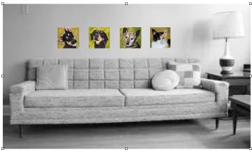 4 piece configurable horizontal